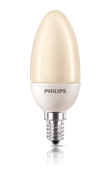 Philips Energiesparlampe Softone ES Flame Terracotta Kerze 5 Watt E14 822