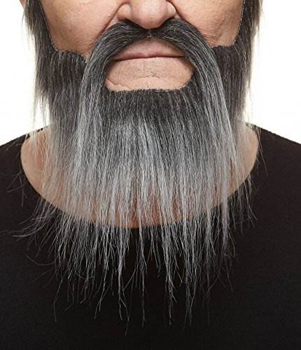 [Hipster salt and pepper fake beard and mustache, self adhesive] (False Beards And Moustaches)