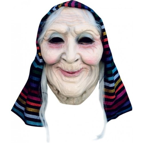Old Lady Head Mask -