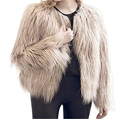 Jeune Manche Fourrure Laineux Mode Confortables Styles Longues en Young Hiver Veste Femme Fourrure Manches Manteau Fourrure Courte Uni Blouson Chaud V Art qUxAxY8w