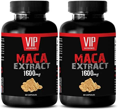 Maca Extract herb - Maca 1600mg 4: 1 Extract -Increase in Sperm Production (2 Bottle 120 Capsules)