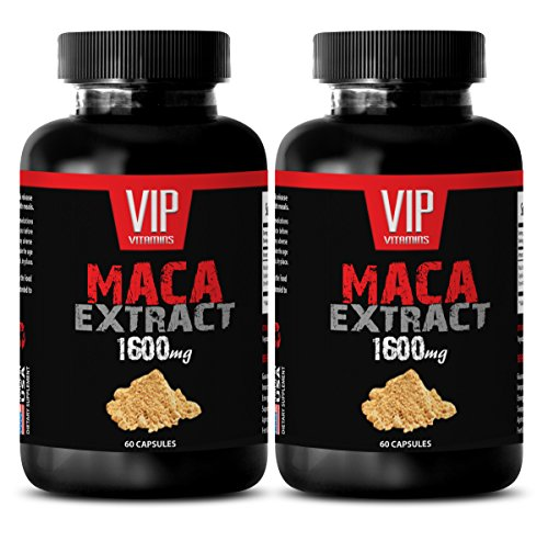 Black maca capsules - Maca 1600mg 4:1 Extract - Relieves fatigue (2 Bottles 120 Capsules)