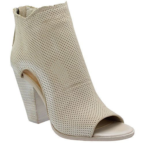 Nubuck Vita Perforated Toe Women Dolce Open Bootie Leather Harem Sand HUqxRfwz