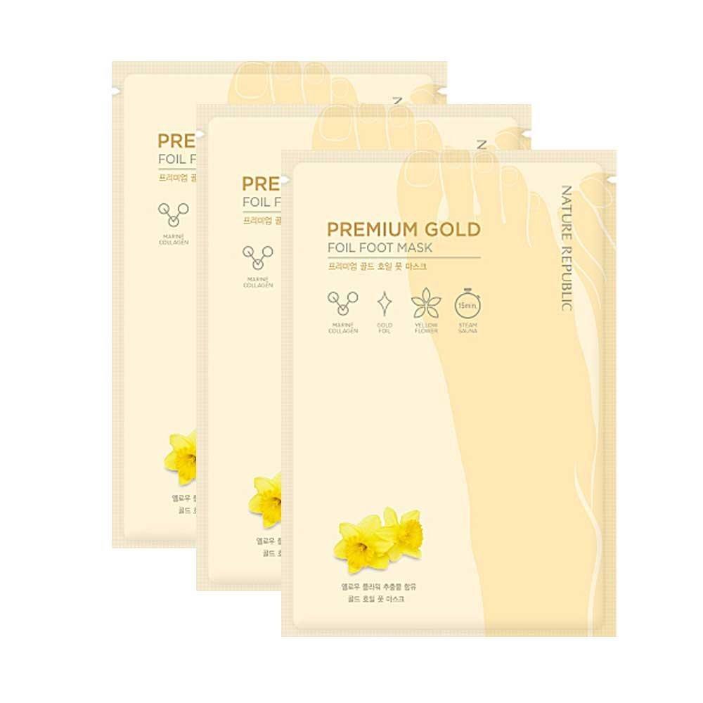 Nature Republic Premium Gold Foil Foot Mask_3 Pairs