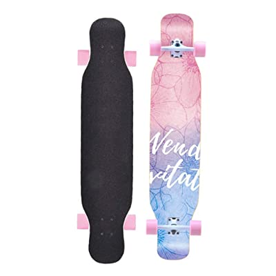 "OFFA Longboards Skateboard, Longboard Skateboard Complete Cruiser Skateboards, Long Boards 8 Layers Decks, 46""x9"" Long Board for Teens Beginners Girls Boys Kids Adults (Color : B): Home & Kitchen"