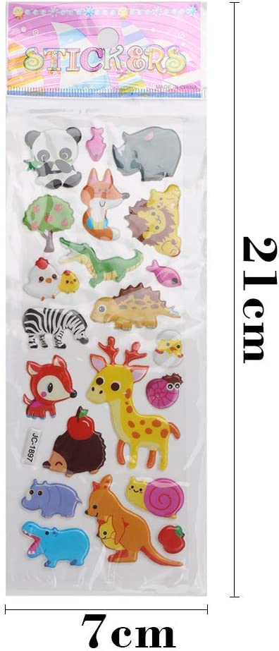 Cute Stickers for Kid-Including Animals,Smile,Fruit,Dinosaurs,Space Marine Life and More STEFORD 3D Puffy Stickers for Kids,36 Pcs Different Sheets with Over 1000