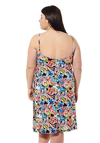 70 50 Prints Träger Mabel Übergrößen big Verschiedene Rot Damenkleid amp;beauty Sommer Größe Strandkleid qBpzvg6BF