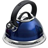 Creative Home Alexa 3.0 Whistling Tea Kettle, Blue Cobalt