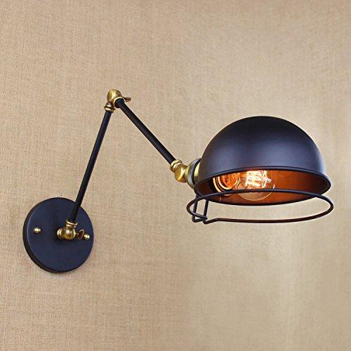 Arm 25cm 5151BuyWorld Loft Style American Industrial Wandleuchte kreative Eisen Vintage-Licht mit zwei Schwingen mechanischer Arm Balkon [Arm 25cm]