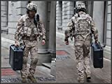 Army Military Equipment Airsoft Paintball Shooting Uniform Tactical Navy Seals Combat Uniform Shirt Pants Knee Pads AOR1 (M)