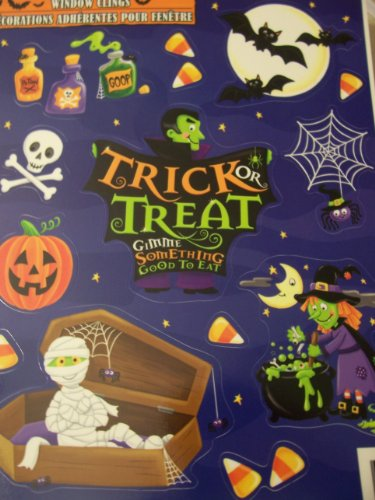 Halloween Window Clings ~ Trick or Treat Gimme Something Good to Eat (13 Clings) for $<!--$11.99-->