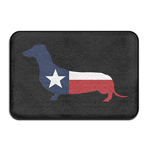 [Dachshund Wiener Texas Entry Way Outdoor Non-Skid/Slip Rug 23