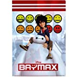 Japan Disney Official Big Hero 6 - Baymax & Hiro Hamada A4 White Emoticons Book Style Clear File Multi Layers Pockets Paper Folder Organizer Classic Poster Arts Colors Design Plastic Documents Holder