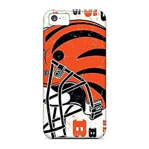 DrawsBriscoe Iphone 5c Shock Absorbent Hard Cell-phone Cases Custom Beautiful Cincinnati Bengals Pattern [gaV13585mDqc]