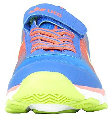 Flow lico vS ado-chaussures pour enfant à fermeture velcro pour le sport, bleu/orange taille 38