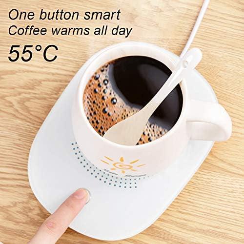 Bianco Riscaldatore con Spegnimento Automatico Piastra Riscaldante per Tazza da Latte Teeyyui Scalda Tazza da caff/è per Uso Ufficio A Casa Scalda t/è Elettrico Sottobicchiere USB