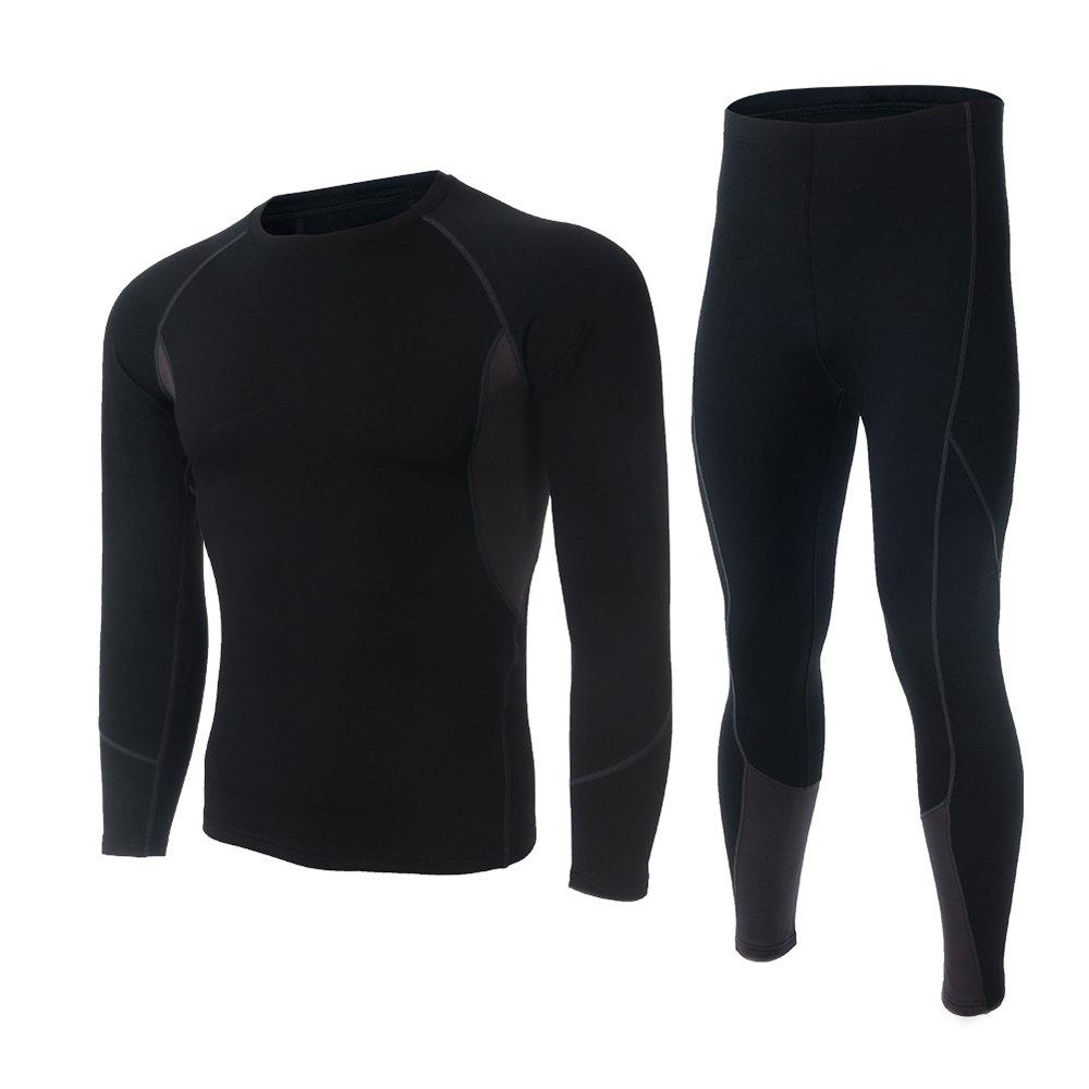 Skysper Ropa interior Termal Camiseta Térmica hombres manga larga Pantalones Largos para
