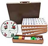 Mose Cafolo Chinese Mahjong X-Large 144 Numbered Melamine Tiles 1.5'' Large Tile with Carrying Travel Case Pro Complete Mahjong Game Set - (Mah Jong, Mahjongg, Mah-Jongg, Mah Jongg, Majiang)