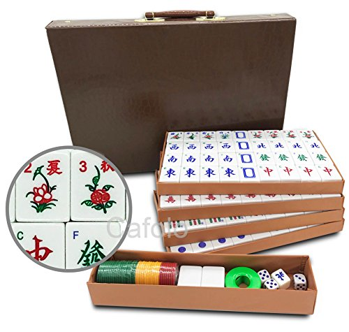 Mose Cafolo Chinese Mahjong X-Large 144 Numbered Melamine Tiles 1.5