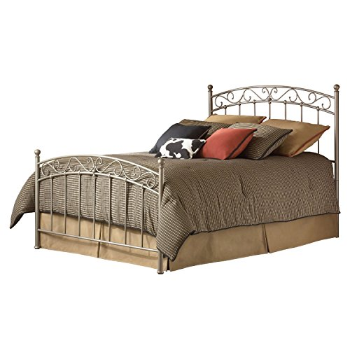 Swag Pads Queen Size Gentle Arch Metal Bed with Headboard and Footboard ()