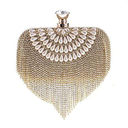 GSYDXKB Abend Party Tasche Cocktail Party Perle Tasche Womens Bag Womens Rhinestone Evening Party Bag Clutch Bag Clutch Bag Handbag Bag