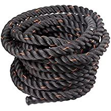 Gymenist Heavy Duty Workout Battle Rope For Exercsie Training, Material - Polyester