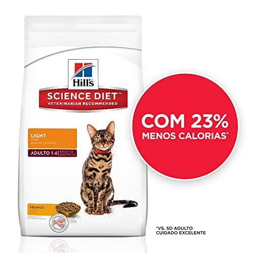 Ração Hill's Science Diet para Gatos Adultos - Light - 7,5kg