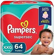 Fralda Pampers Supersec XXG - 64 fraldas