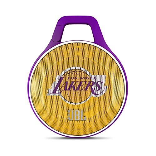 JBL NBA Special Edition L.A. Lakers Clip Portable Bluetooth Speaker Purple/Yellow/White JBLCLIPLAKERSAM
