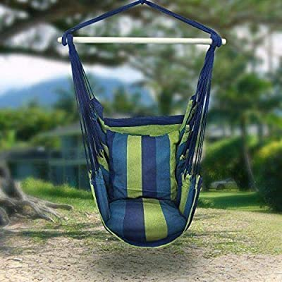 OxiQmart Portable Hanging Rope Hammock Chair Garden Patio Camping Porch Swing Seat New : Garden & Outdoor