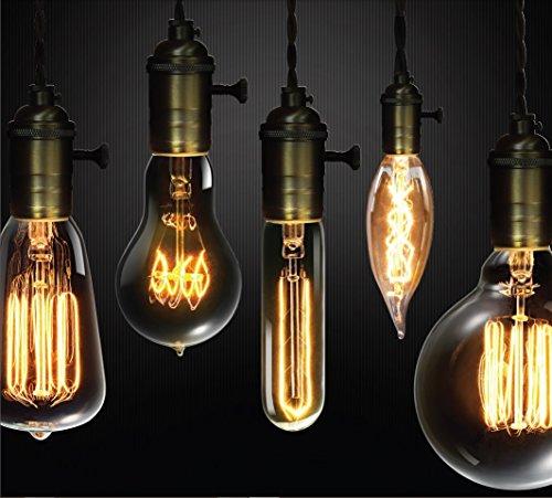 Globe Electric 60w Vintage Edison G30 Vanity Tungsten Incandescent Filament Light Bulb E26 Base