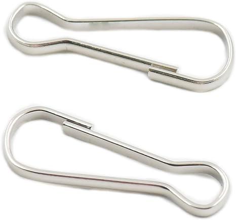 "25 Steel Metal Spring Snap HOOKS 1-1//4/"" long for ZIPPER Pulls Backpacks Purses"