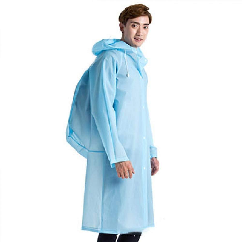 bleu XL NHDYZ Imperméable en Plastique épais Manteaux de Pluie Femmes Homme Poncho de Pluie Universel imperméable Tourisme randonnée randonnée Capuchon voituretable imperméables