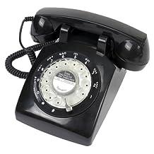 Retro 1960s Black Rotary Dial Telephone