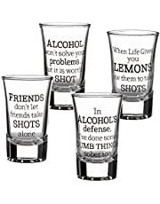 Lillian Rose Party Shot Glasses Set of 4, Clear, 1.5oz