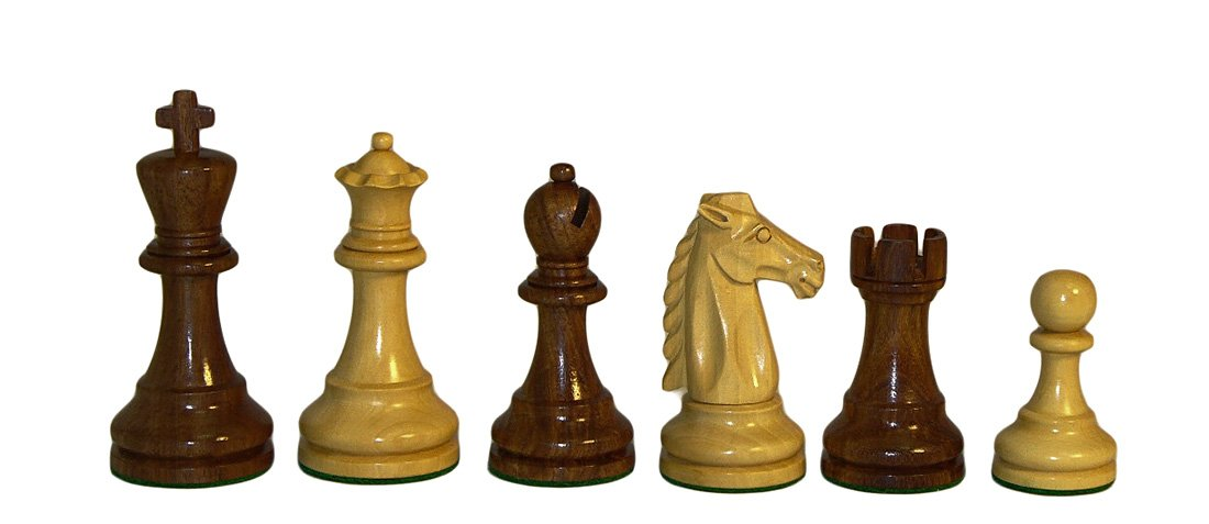 Checkmate Mustang Sheesham Chessmen by Checkmate