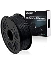 SUNLU 3D Printer Filament,PLA Plus Filament - 1.75 mm Black 1kg Spool (2.2 lbs) - Dimensional Accuracy +/- 0.02mm - 100% Virgin Raw Material