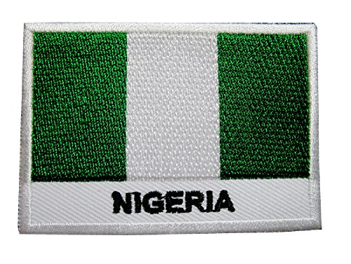 Federal Republic Of Nigeria Nigerian National Flag Sew On Patch Free Shipping