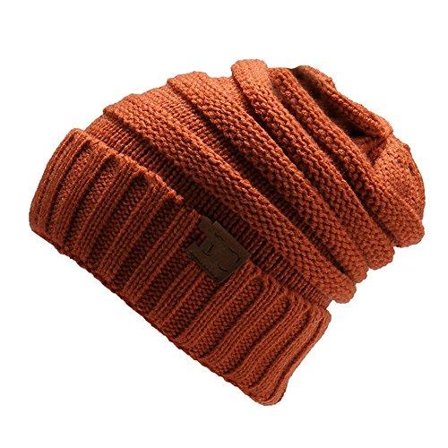 ZGMZHNXC 2018 Hombres De Tejida para Punto embroidered Sombrero Outdoor red Sombrero Trigo Color Sombrero Oreja Iron De Autumn Gorra De E1OrxEP