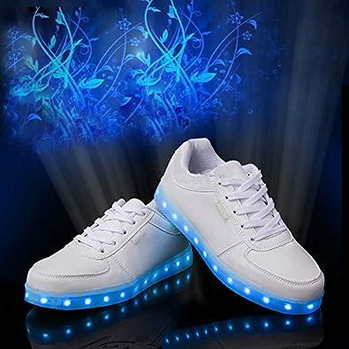 Baskets Usb Femme 7 Shoes Couleurs Sportblanc35 Lumière Lumineux Chaussures Led Unisexe Homme Lumineuse Charge dCtBsQrxoh