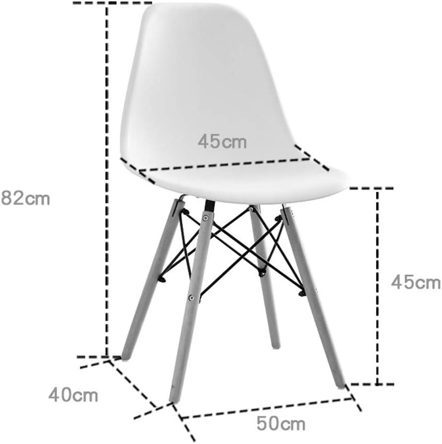XXT Chaise de salle, Chaise de bureau simple, créative Dossier, Chaise Loisirs, Maison adulte Chaise de salle Durable (Color : Brown) Gray