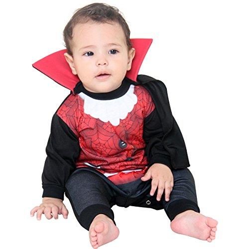 Fantasia Macacão Conde Drácula Bebe Sulamericana Fantasias P-3 Meses