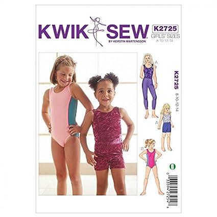 Amazon Kwik Sew Childrens Easy Sewing Pattern 2725 Dancewear