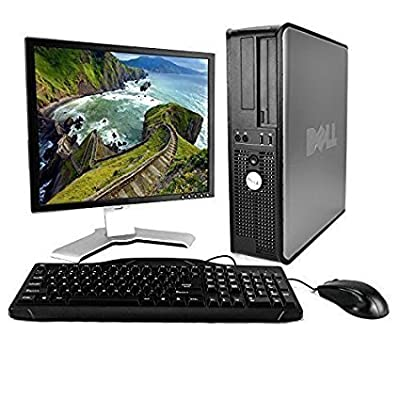 DELL Optiplex Desktop with 22in LCD Monitor (Core 2 Duo 3.0Ghz, 8GB RAM, 1TB HDD, Windows 10), Black (Renewed)
