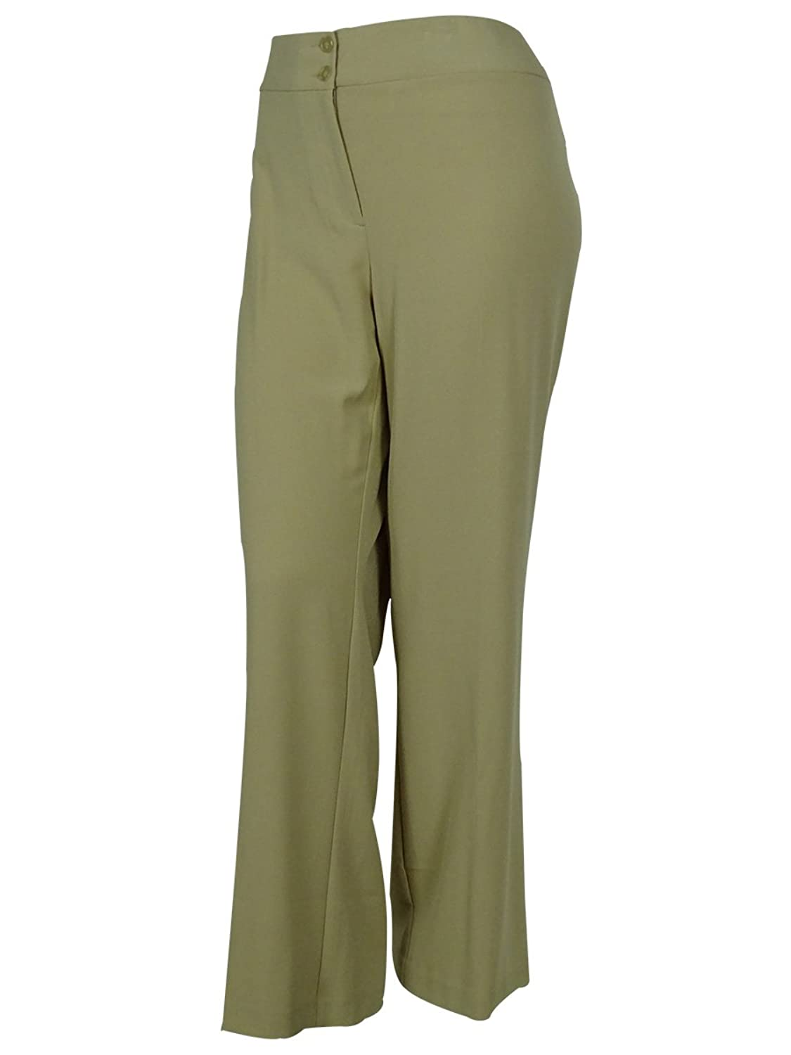 Style & Co. Womens Plus Stretch Flat Front Dress Pants