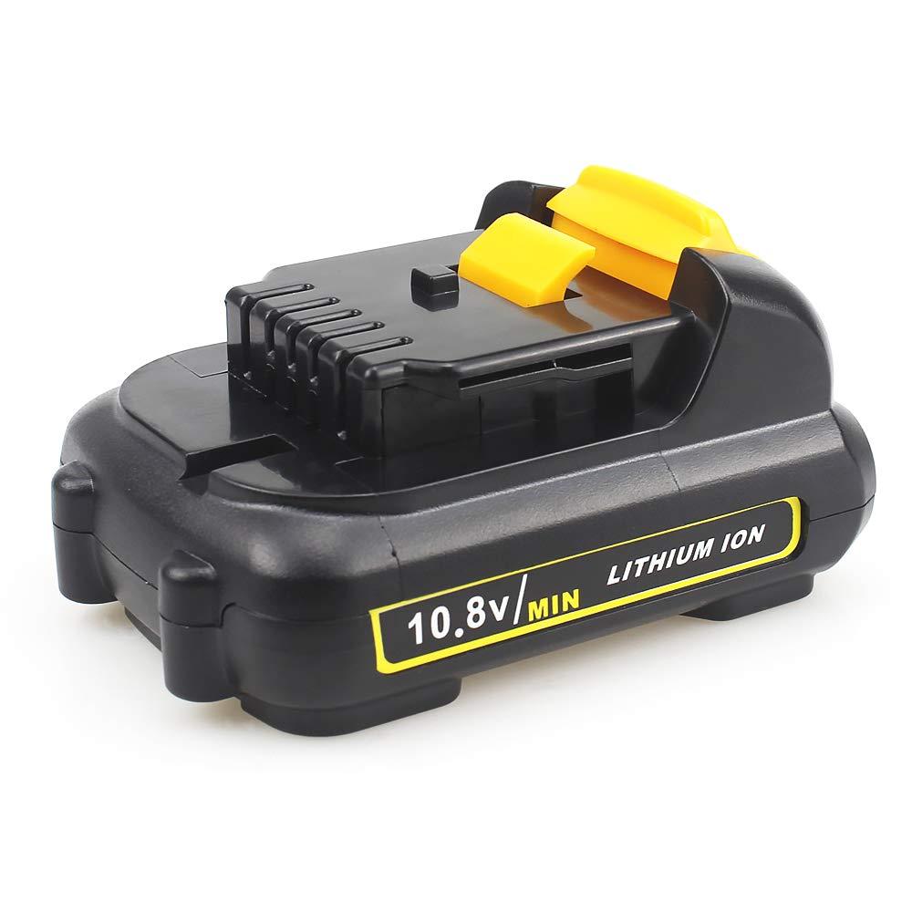 Waitley DCB127 6A batteria di ricambio per Dewalt 10,8 Volt Li-Ion compatibile con DCB121 DCB120 DCD700 DCD710 DCD710S2 DCF610 DCF610S2 DCF805 DCF813