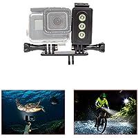 Underwater Light for GoPro 30m Waterproof Sidekick Side LED Flash Spot Flood Lighting Camera Accessories - For Dive Diving Scuba - For Go Pro Hero 2 3 3+ 4 5 SJcam SJ5000 EKEN Xiaomi Yi By ADIKA