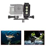 ADIKA Underwater Light for GoPro 30m Waterproof Sidekick Side LED Flash Spot Flood Lighting Camera Accessories - For Dive Diving Scuba - For Go Pro Hero 2 3 3+ 4 5 SJcam SJ5000 EKEN Xiaomi Yi By