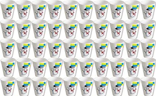 1000 Stück geschäumte Thermobecher Motiv Schneemann 0,2 l # Glühweinbecher # Weihnachtsmarkt # Weihnachtsfeier # extra dickwandige Becher für Heißgetränke wie Punsch, Glühwein, Kaffee, Tee, ... #