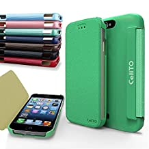 iPhone 4S Case, Cellto MOZ Sophisticated Case [Ultra Slim] Flip Cover for Apple iPhone 4S or iPhone 4 - Mint